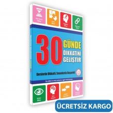 8+ Yaş 30 Günde Dikkatini Geliştir Kitabı (Zeka Testleri, Okul ve Sınav Başarısı, Düşünme Becerileri, Problem Çözme)